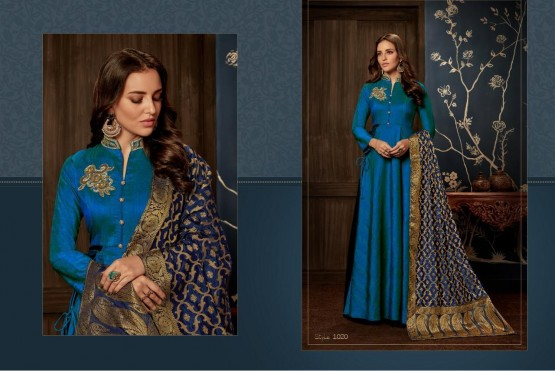 Blue Tapeta Readymade Suits