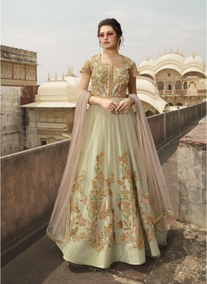 Light Green Silk Salwar Suit