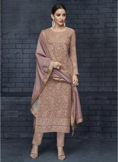 Light Mauve Georgette Readymade Salwar Suit