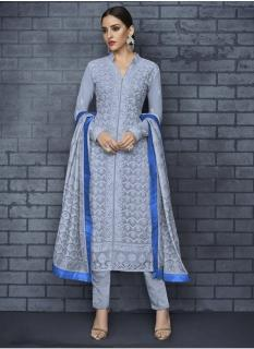Sky Blue Georgette Readymade Salwar Suit