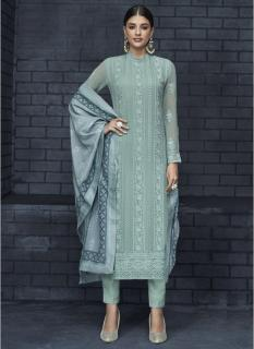 Light Mint Georgette Readymade Salwar Salwar Suit
