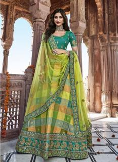 Light Green Banarasi Silk Jacquard Lehenga Choli