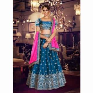 Satin Silk Wedding Lehengha Choli